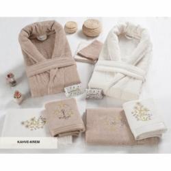 Cotton Box Çift Kişilik Dört Mevsim Set Sandrea Mavi