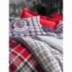 Cotton Box Masculine Tek Kişilik Ranforce Nevresim Takımı Marco Kırmızı