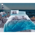 Cotton Box Tek Kişilik Maritime Pamuklu Ranforce Uyku Seti Ship Mavi