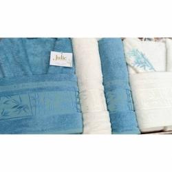 Cotton Box M Beden Nakışlı Erkek Bornoz Daily Mavi Mavi