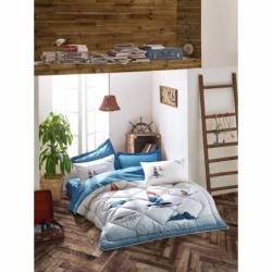 Cotton Box Tek Kişilik Maritime Pamuklu Uyku Seti Neta Mavi
