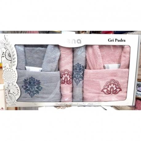 Cotton Box Embos Battaniyeli Nevresim Takımı Çift kişilik Bej