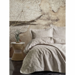 Cotton Box Soft Tek Kişilik Yatak Örtüsü Bej
