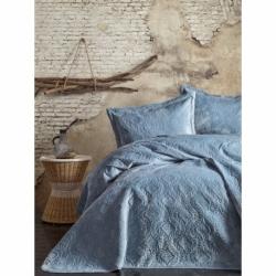 Cotton Box Soft Tek Kişilik Yatak Örtüsü Mavi