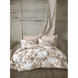 Cotton Box Çift Kişilik Saten Uyku Seti Loren Bej