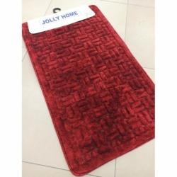 Jolly 2'li Pamuklu Banyo Paspası V1 Kırmızı