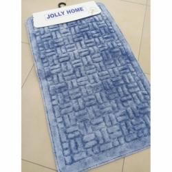 Jolly 2'li Pamuklu Banyo Paspası V1 Mavi