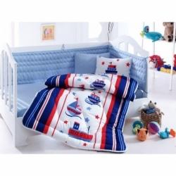 Cotton Box Bebek Uyku Seti Denizci Mavi