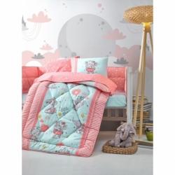 Cotton Box Bebek Uyku Seti Elephant Pembe
