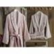 Dantela Vita Bambu Aile Bornoz Seti Fancy Pudra Taş