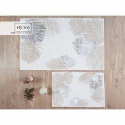 HCW 2'li Pamuk Banyo Paspas Seti Palm