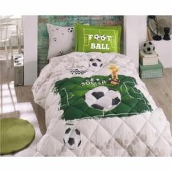 Clasy Genç Pamuklu Ranforce Uyku Seti Soccer V1