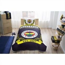 Lisanslı Yatak Örtüsü Seti Fenerbahçe Logo Tek Kişilik