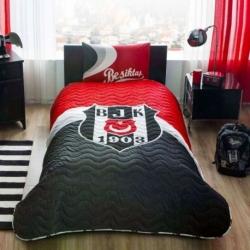 Lisanslı Yatak Örtüsü Seti Beşiktaş Logo Tek Kişilik