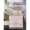 Beğenal Ponpon Saçaklı Kadife 6'lı Yüz Havlusu 50x90cm Kafes