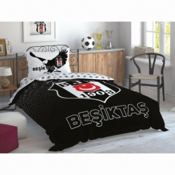 Taç Lisanslı Nevresim Takımı Beşiktaş Marşlı Logo