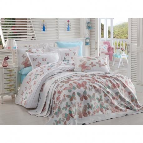 Clasy Çarşaflı Genç Yatak Örtüsü Seti Romantic