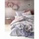 Cotton Box Mode Line Tek Kişilik Ranforce Nevresim Takımı Dennis Gri